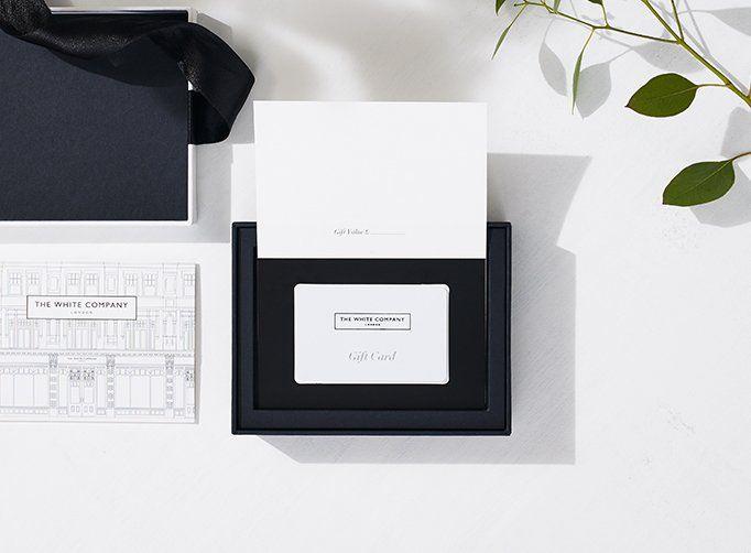 white company gift bag