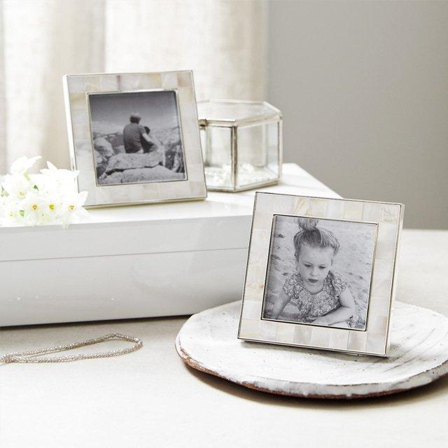 Mother Of Pearl Photo Frames 3x3 Set Of 2 Photo Frames The