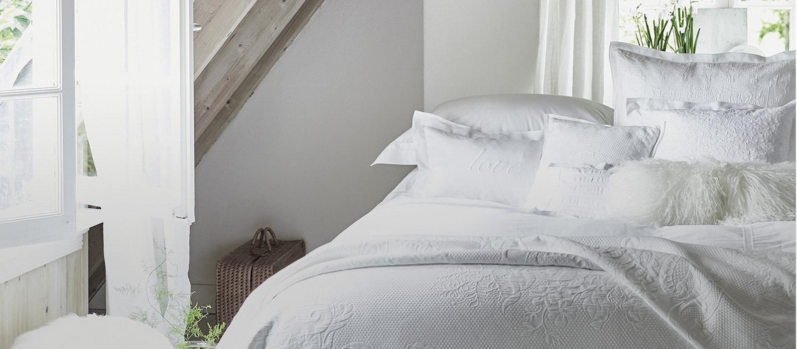 Bed Cover Buying Guide   The White Company US