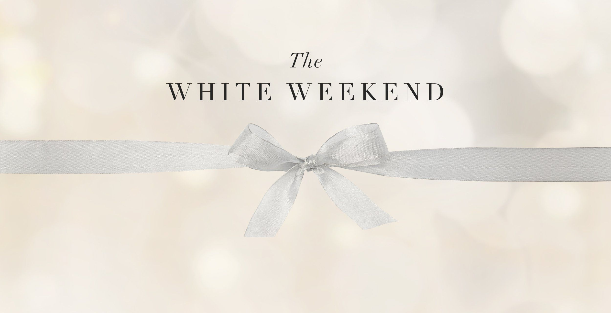 Black Friday The White Weekend