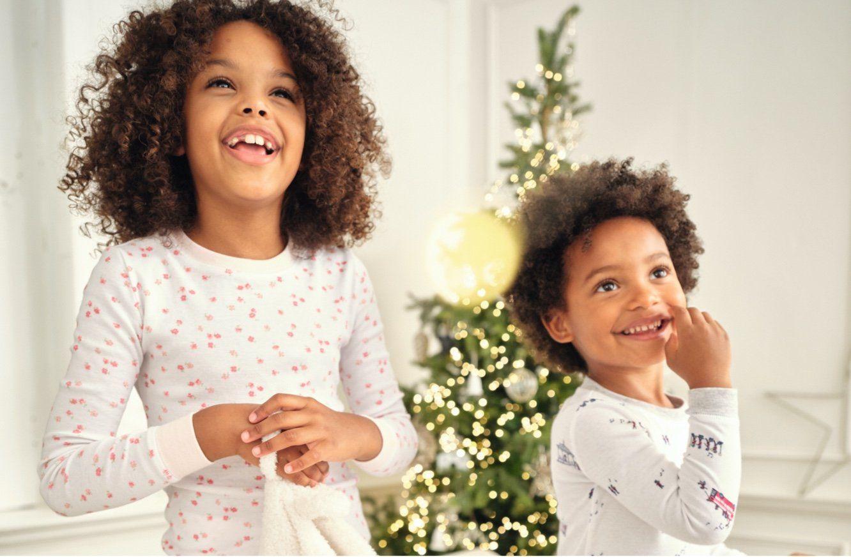 childrens slim fit floral pajamas