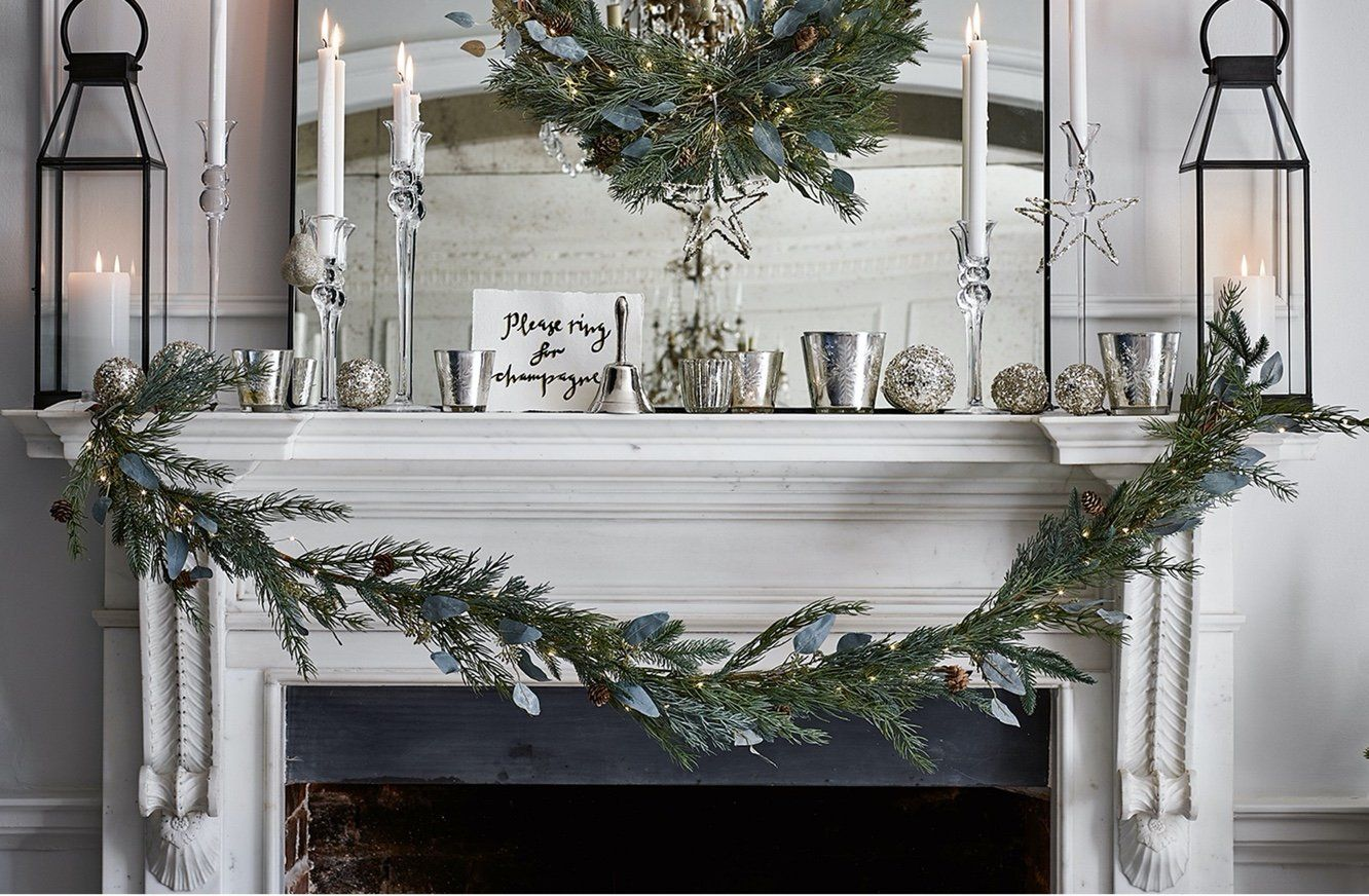 pre lit frosted pinecone garland